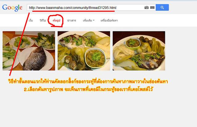 วิธีค้นหาภาพจาก google