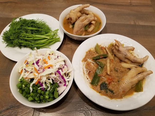 ขนมจีนน้ำยาป่าตีนไก่